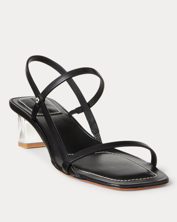 Leather Block-Heel Sandal