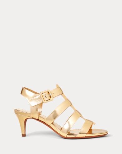 Metallic Leather Sandal