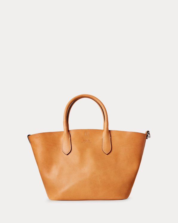 Tote Bellport media in pelle