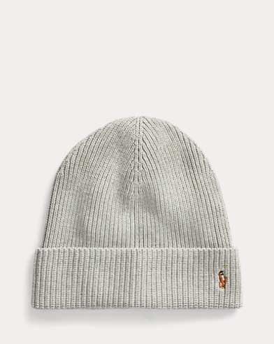 Pony Rib-Knit Cotton Hat
