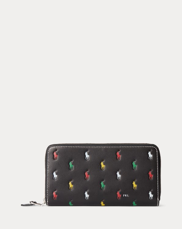 Pony Leather Zip Wallet