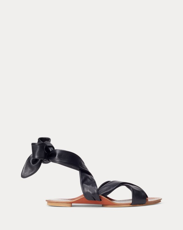 Leather Tie Sandal