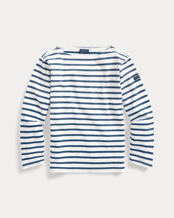 Bluse mit U-Boot-Ausschnitt