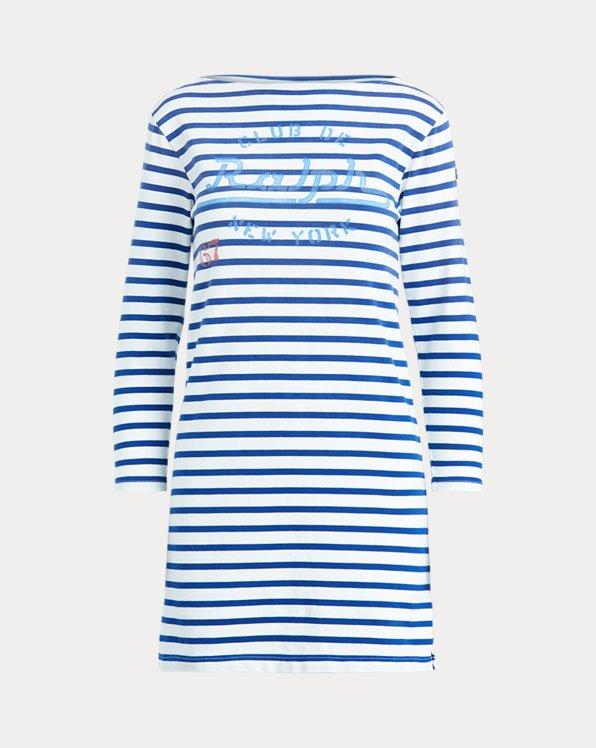 Kleid mit U-Boot-Ausschnitt