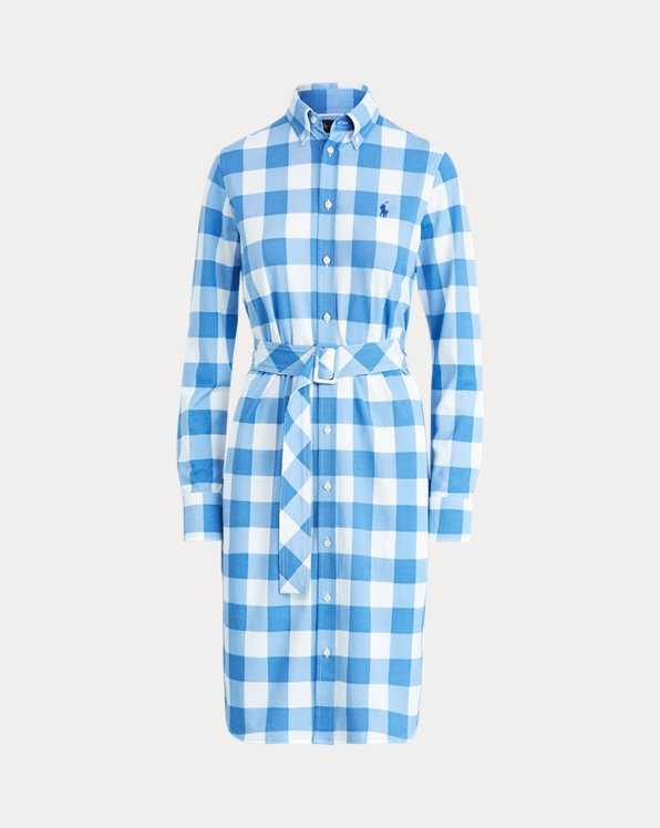 Gingham Cotton Shirtdress