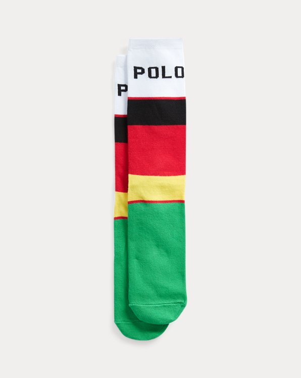 Colour-Blocked Crew Socks
