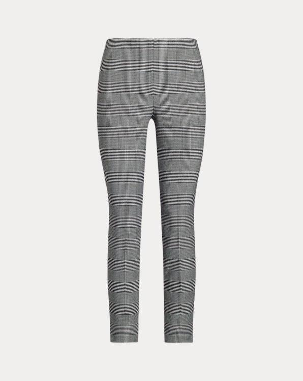 Pantaloni skinny stretch vichy