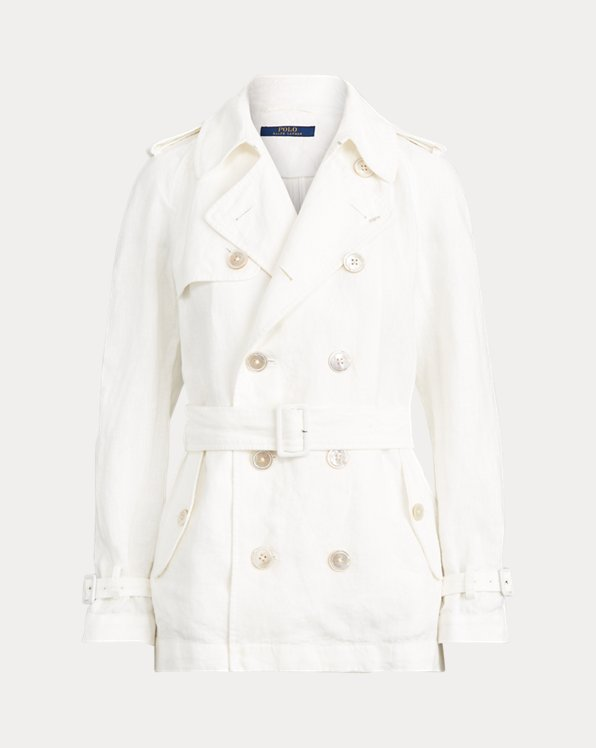 Belted Linen Trench Coat