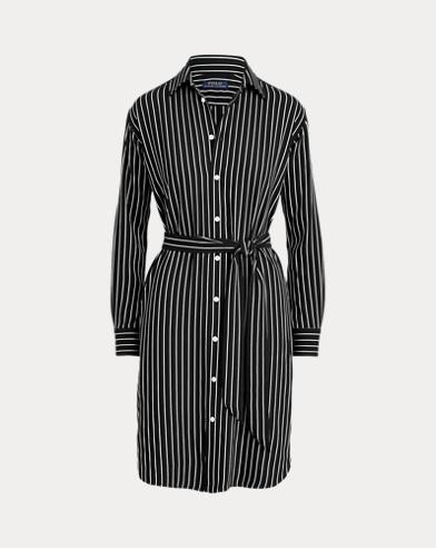 Striped Belted Shirtdress