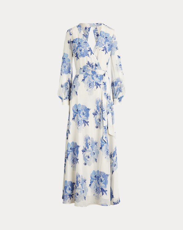 Floral Georgette Wrap Dress