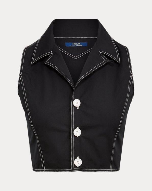Cropped Sleeveless Shirt