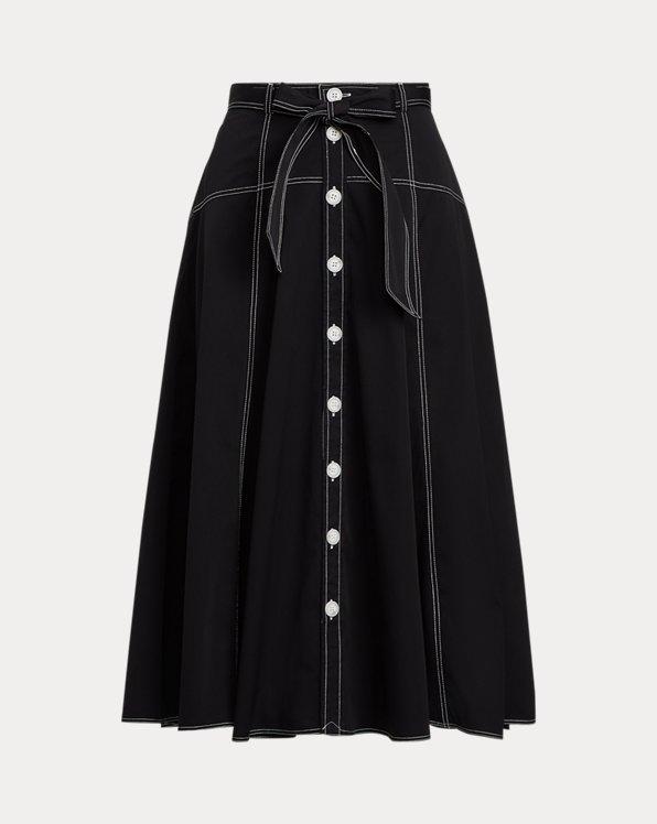 Broadcloth A-Line Skirt
