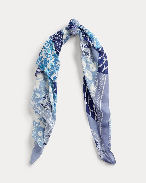 Foulard patchwork en coton