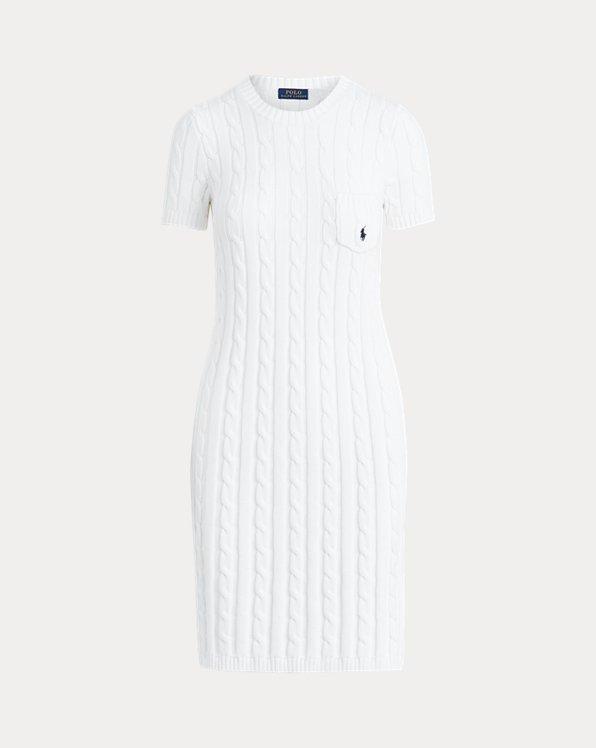 Kurzärmliges Kleid aus Baumwolle
