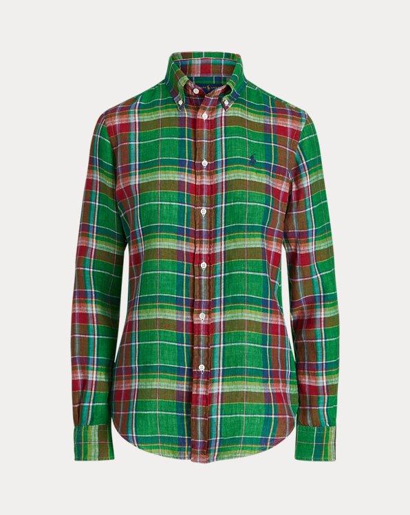 Camicia in madras di lino