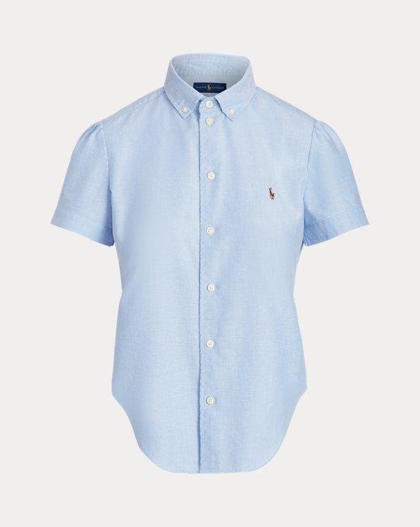 Oxfordhemd mit kurzen Ärmeln