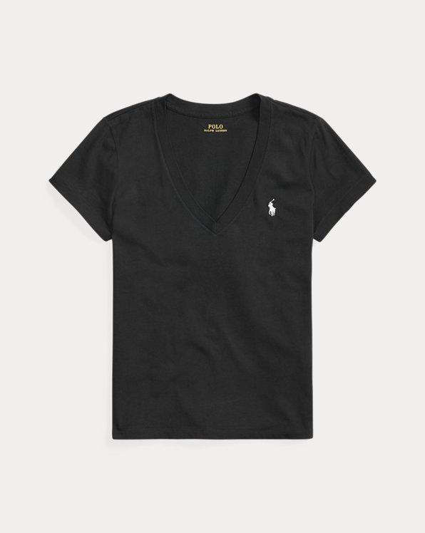 Maglietta in jersey con scollo a V