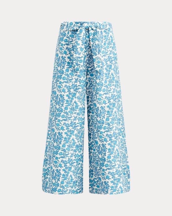 Pantalon fleuri à jambe large