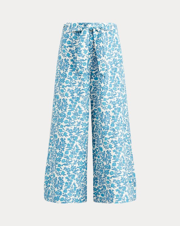 Floral-Print Wide-Leg Trouser