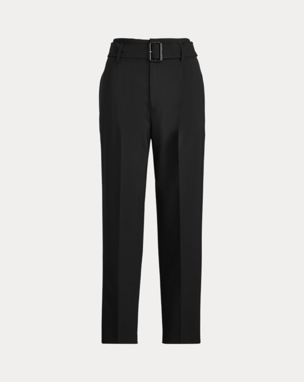 Belted Straight-Leg Pant