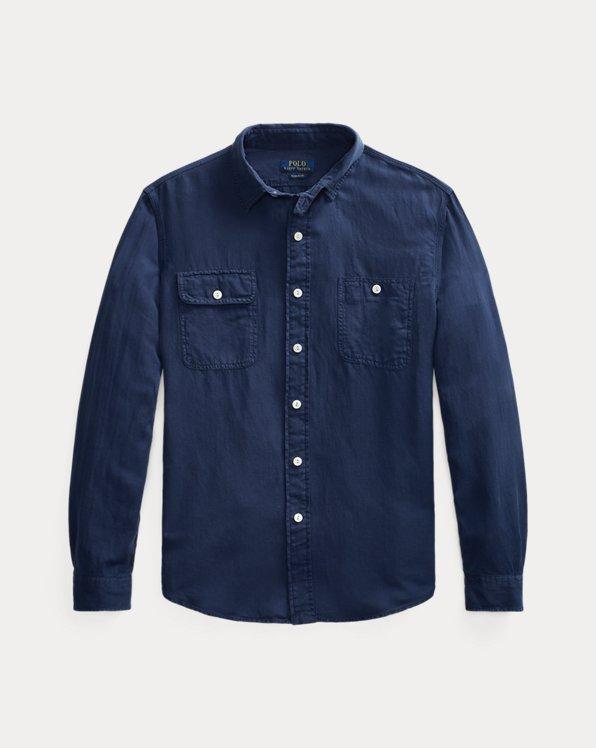 Classic Fit Herringbone Shirt