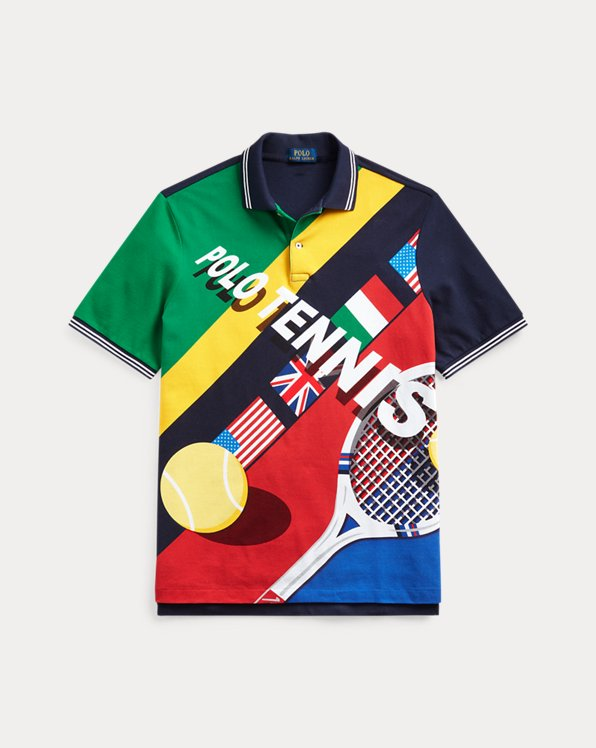 Classic Fit Tennis Mesh Polo