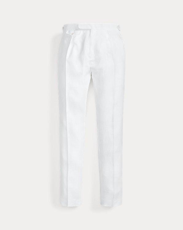 Pleated Linen Suit Trouser