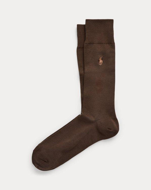 Stretch-Cotton Trouser Socks