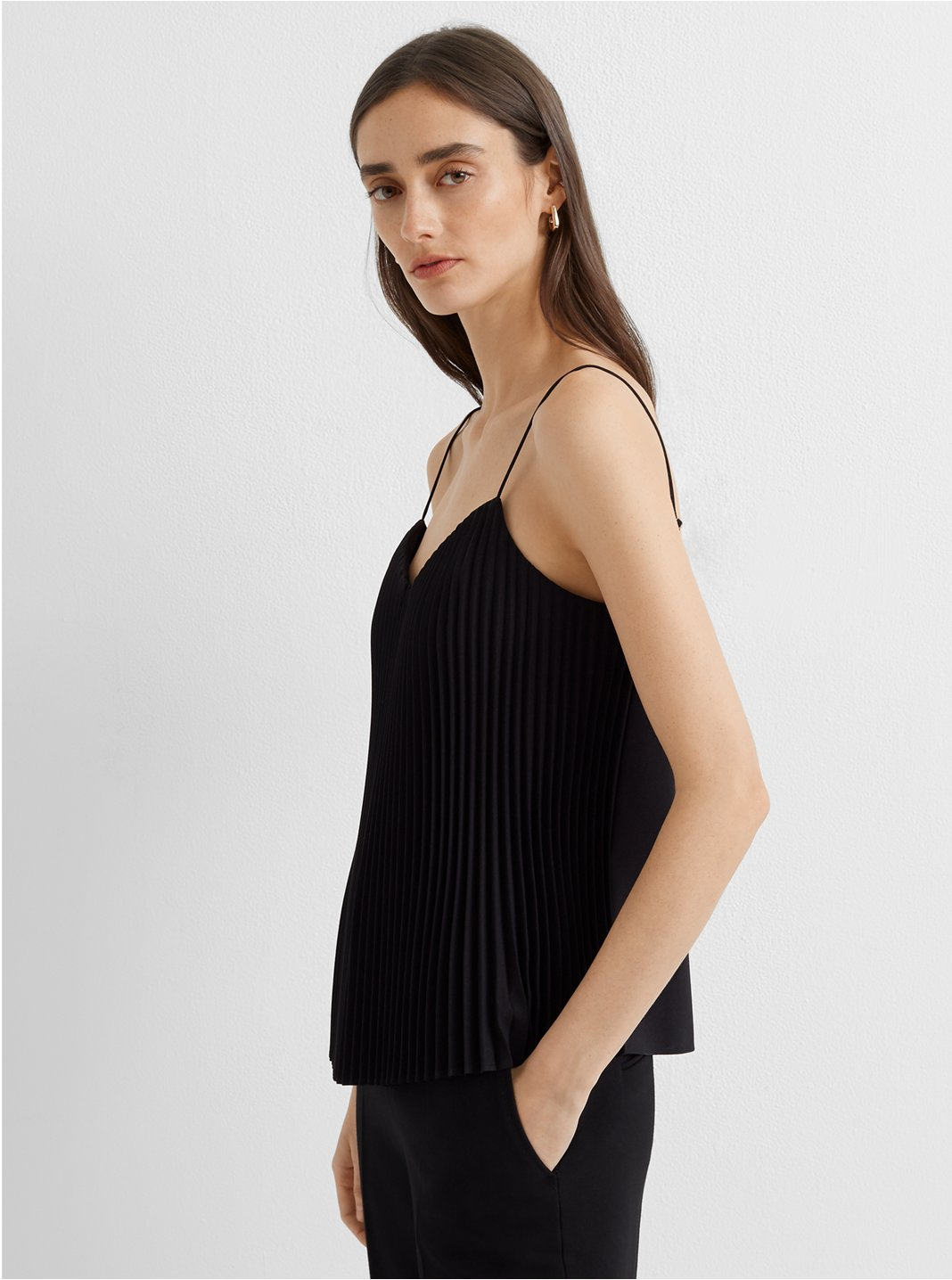 Pleat Front Camisole