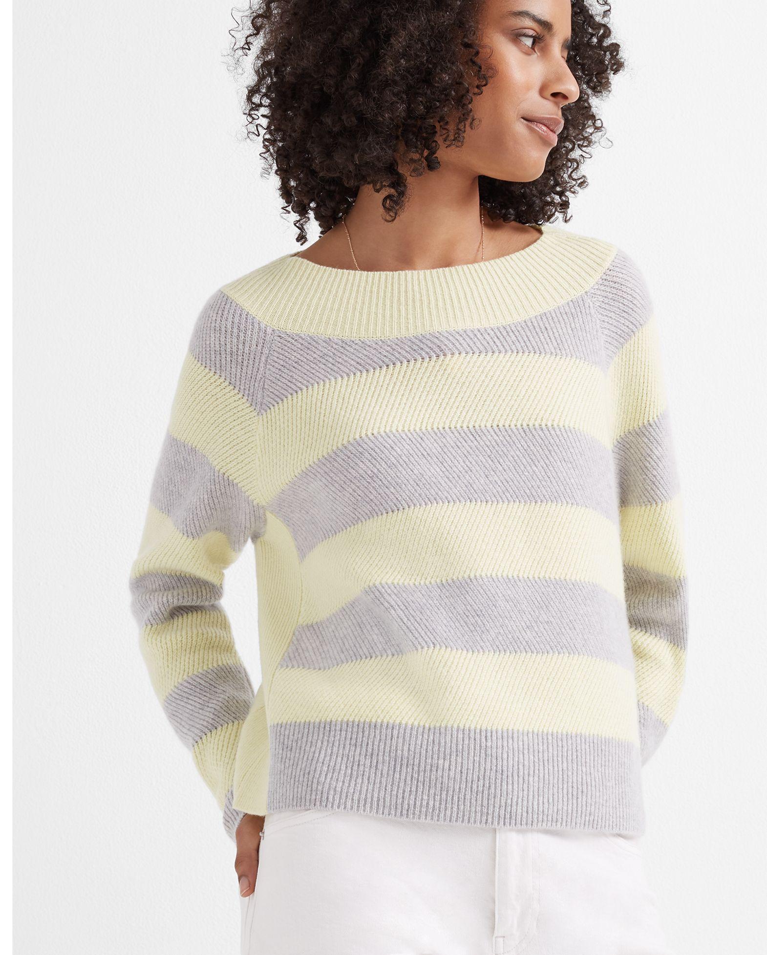 Racked Stitch Cashmere Sweater