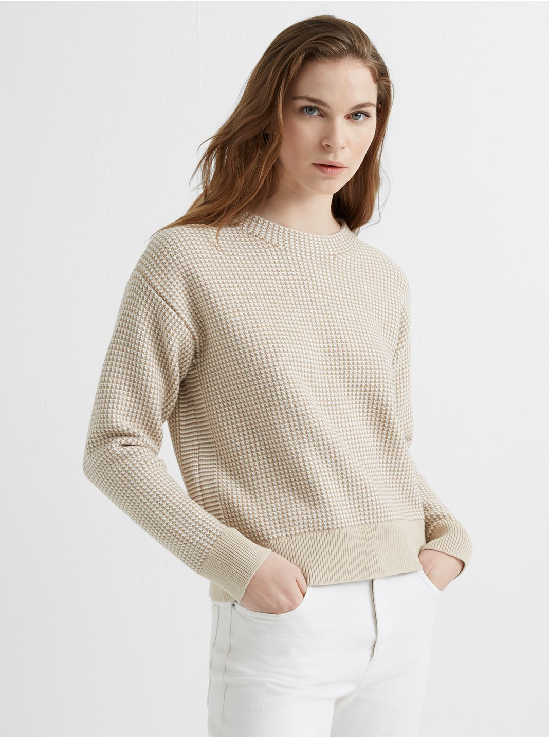 Tri-Color Stitch Sweater