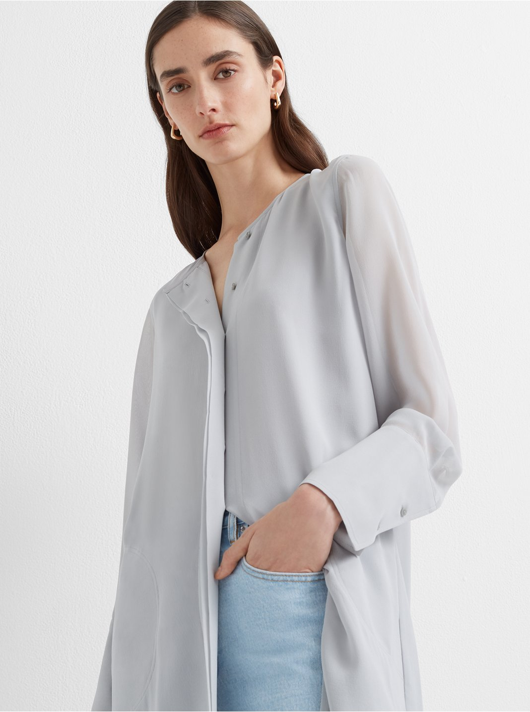 Shirttail Belted Dress