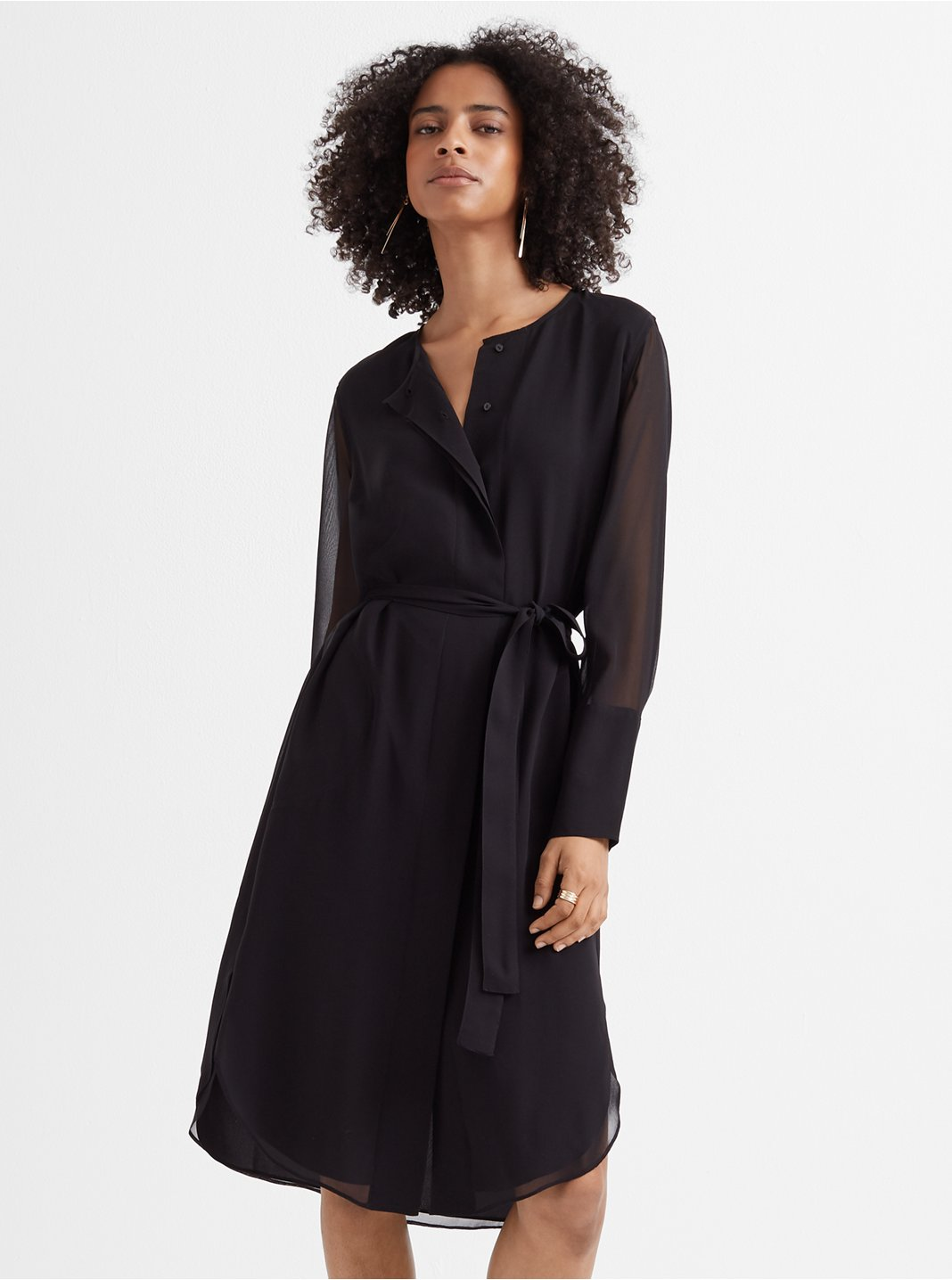 Shirttail Belted Dress
