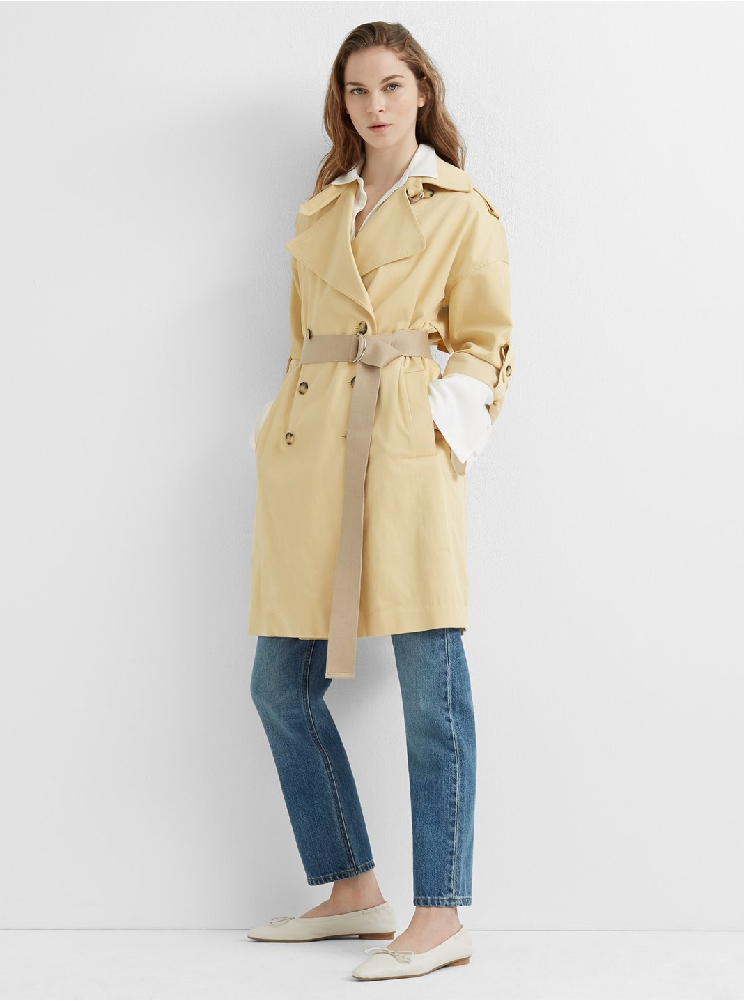 Adjustable Sleeve Soft Trench