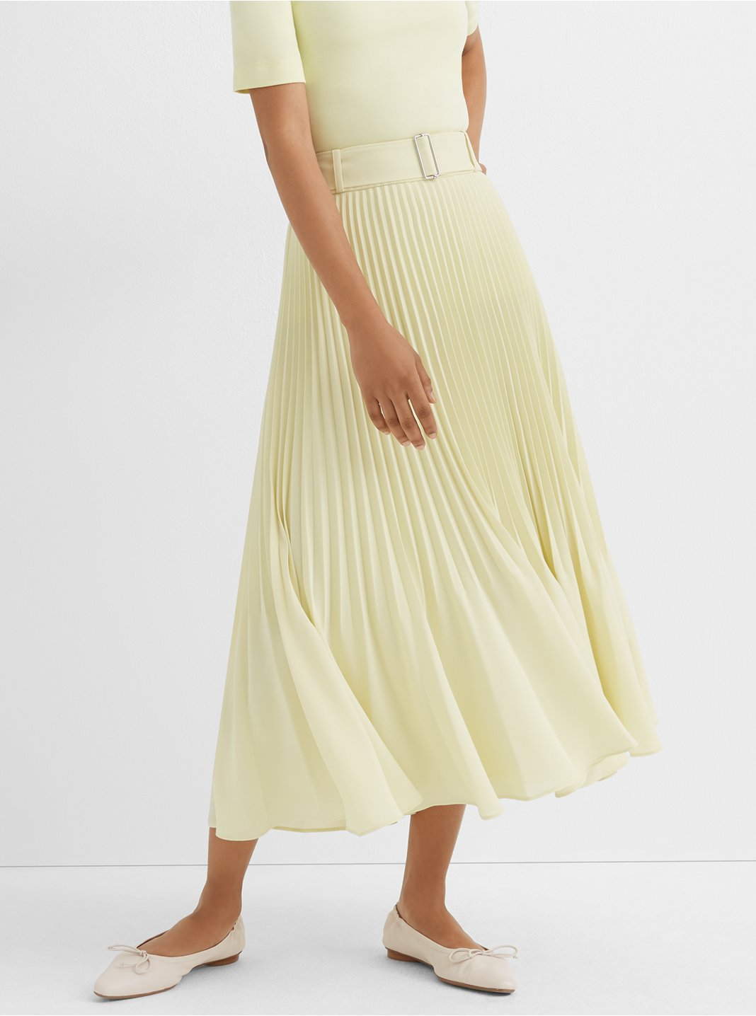 Split Pleat Skirt
