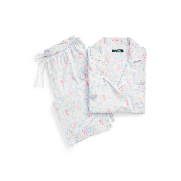 로렌 랄프로렌 파자마 세트 Lauren Cotton Dolman Sleeve Sleep Set,Floral Multi