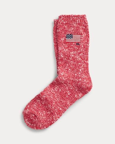 USA Flag Ragg Crew Socks