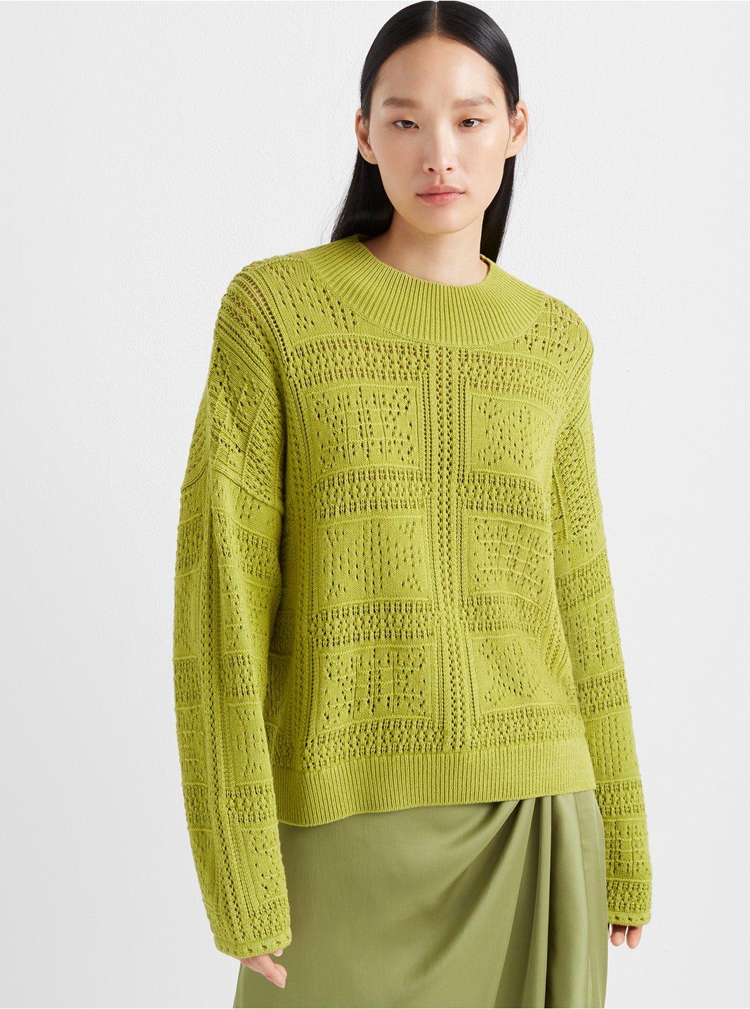 Pointelle Stitch Sweater