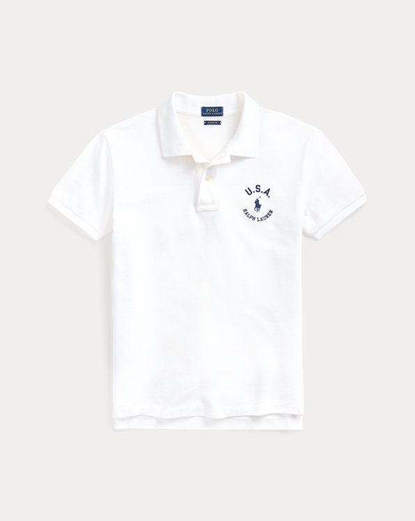 Classic Fit Flag Polo Shirt