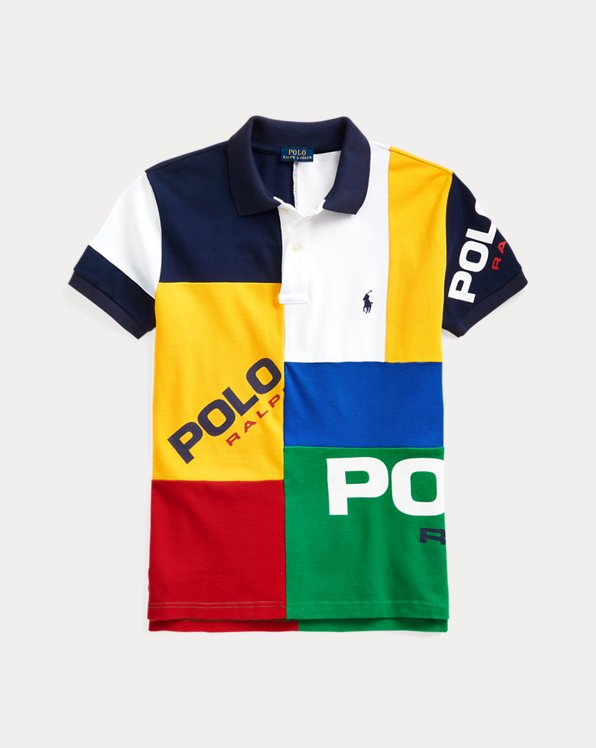 Classic Fit Color-Blocked Polo