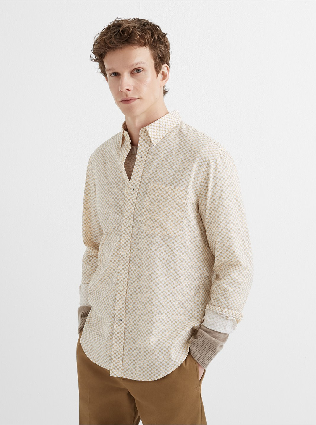 Slim Honeycomb Shirt