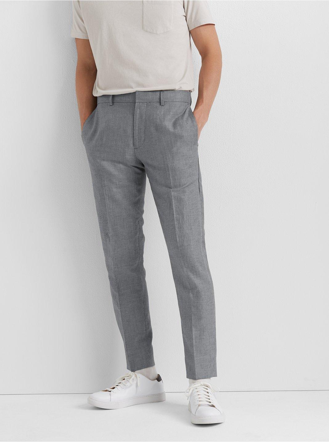 클럽 모나코 Club Monaco Sutton Micro-Check Pants,Navy Multi