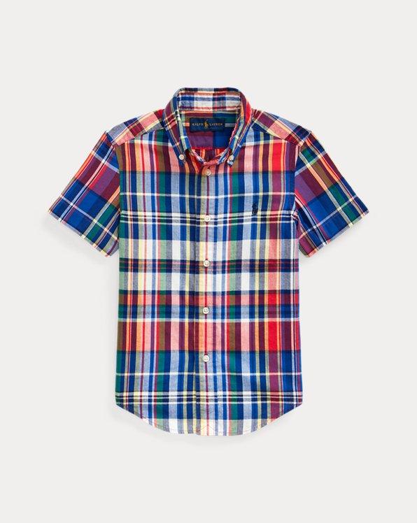 폴로 랄프로렌 Polo Ralph Lauren Cotton Madras Shirt,Red Multi