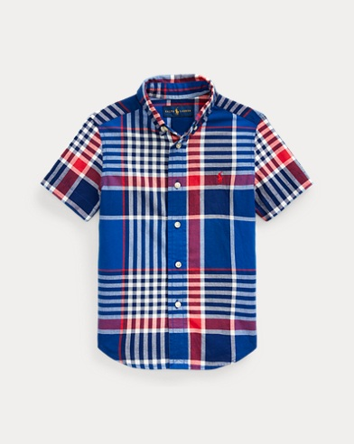 폴로 랄프로렌 Polo Ralph Lauren Cotton Madras Shirt,Blue Red Multi