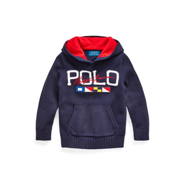 폴로 랄프로렌 Polo Ralph Lauren Logo Cotton Hooded Sweater,RL Navy
