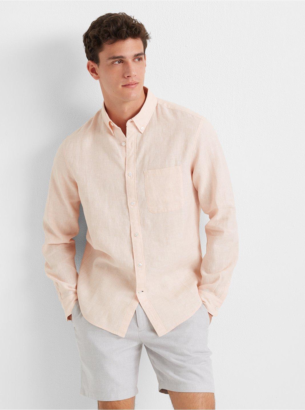 Slim Jaspe Linen Shirt