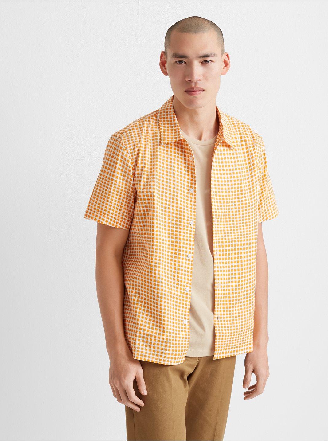 Short Sleeve Crosshatch Shirt