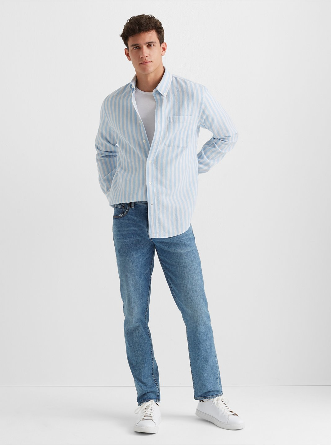 Waffle Stripe Shirt
