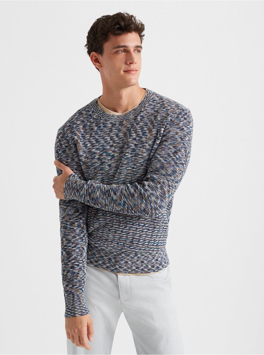 Spacedye Stitch Crew Sweater