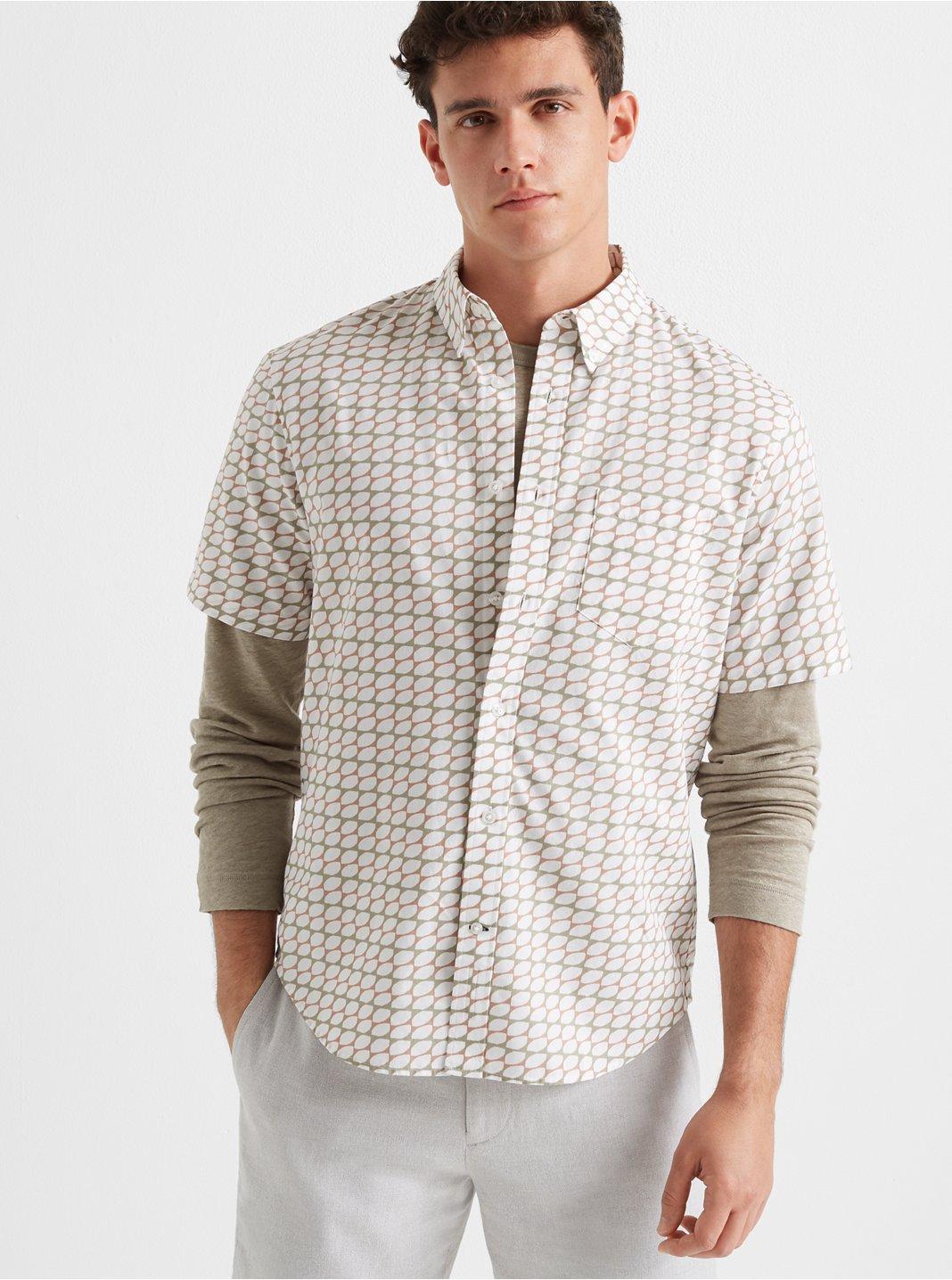 Short Sleeve Geometric Shirt